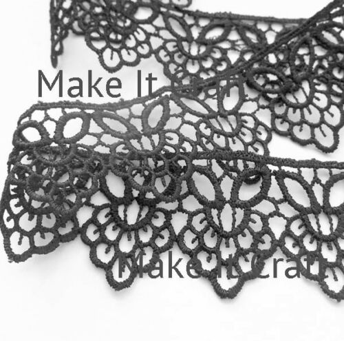 White or Cream Black wedding and sewing 38mm  Guipure Lace
