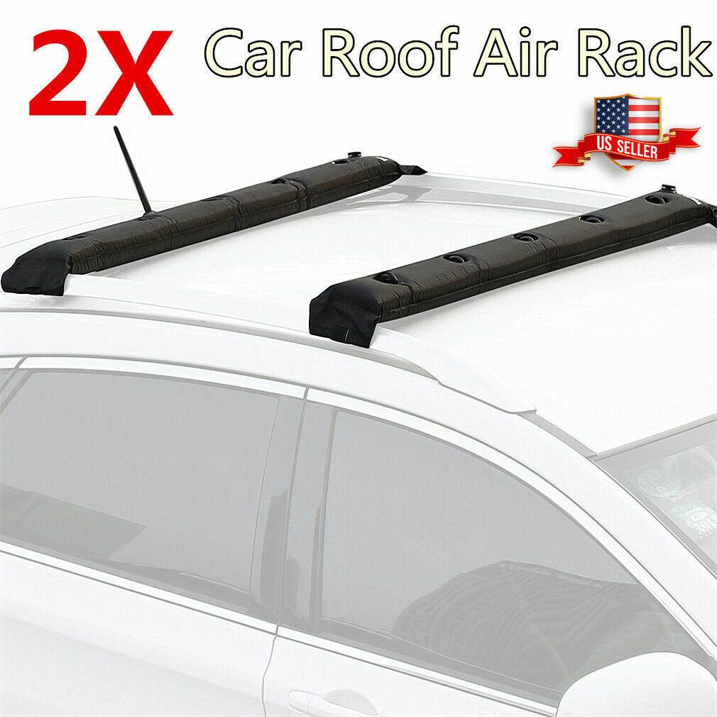 Exuberanter Universal Soft Car Roof Bars 600D Oxford PVC Soft Roof Rack For Kayak Surfboard Ladder Luggage Max Weight Capacity 60 Kg