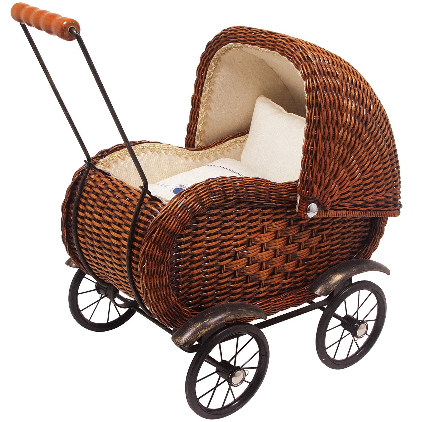 Carro de muñecas cesta juguetes juguetes cochecito con lavado de aprox. 59 x 50 cm nuevo