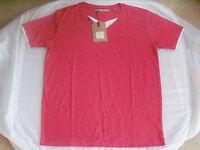 Mens Brave Soul V/neck T-Shirt-Plum/Dark Pink-Size Medium-New Clothes With Label