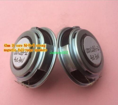 2pcs Ultra-thin full-range speaker 3ohm 3W 3Ω NdFeB magnets loudspeaker 43mm