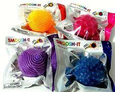 Toysmith SMOOSH-IT Squish /& Stick Ball 4-Pack Red Green Blue Pink