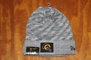 Men s Los Angeles Rams New Era Gray Super Bowl LIII Sideline Knit ... 8bfe26886