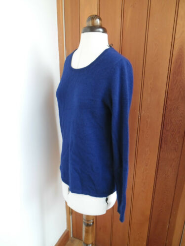 Blue Soft Bright Jumper Bnwt Small Cashmere S 100 Clements Ribiero scuro Pop q1tw7tS