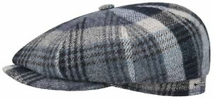 4377ad2cf Details about Stetson Baker Boy Cap Hatteras Cap Woolrich Check 223 Grey  Blue Checked Trend