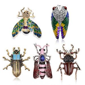 Emaille-Tier-Insekt-Biene-Strass-Kristall-Brosche-Pin-Bouquet-Schmuck-GeschenkXJ