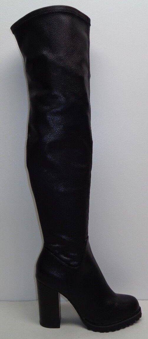 Buffalo Size 9 Eur 39 Black 413-1488 413-1488 413-1488 Over The Knee Heels Boots New Womens shoes 7a21ea