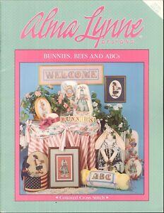 Bunnies-Bees-amp-ABCs-Cross-Stitch-Booklet-1999-Alma-Lynne-ALX-85-Doll-Pattern