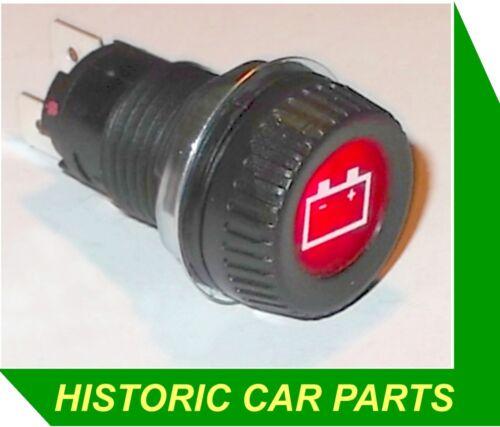 """Batterie d/'allumage à voyant Grand Rouge 25 mm Blanc Icône 1/"""" dia 6 V 2 W Ampoule"""
