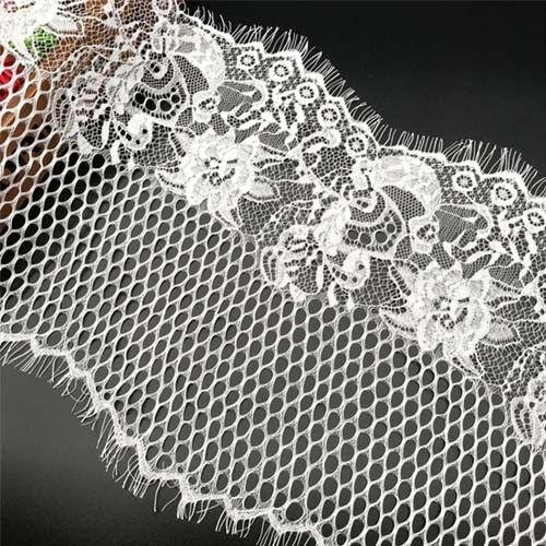 3 Metres Eyelash Lace Trim DIY Clothes Dress Wedding Curtain Fabric 25cm Width