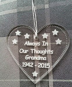 Personalised-Hand-made-laser-engraved-acrylic-memorial-Christmas-heart-bauble