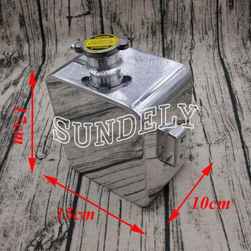 Aluminium Universal 2.5 Litre Polished Alloy Header Expansion Water Tank /& Cap