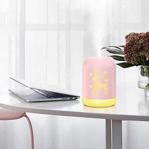 UK Electric Oil Humidifier Air Diffuser Aroma Night Light Up Difuser Home 300ML