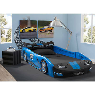 Twin Size Race Car Bed Turbo Sleek Kids Toddler Bedroom Furniture Nascar Unisex EBay Delectable Nascar Bedroom Furniture