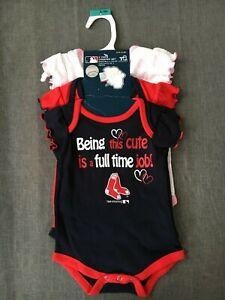 MLB Infants Boston Red Sox Peanuts Love Baseball Creeper White