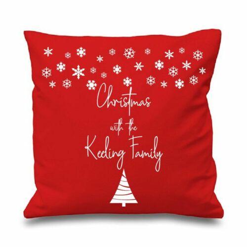 New 16 Inch Black Cotton Cushion Cover White Star Design Appliqué Christmas