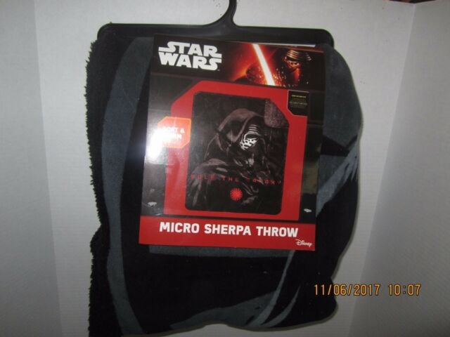 "Star Wars First Order Kylo Ren Black Fleece Throw Blanket 46/""x60/"" NEW"