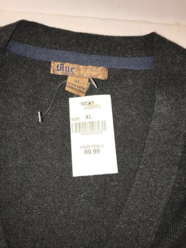 5 grigio Men Italy Cardigan Pronto Uomo in antracite bottoni New maglina Blue Xl By aw4qfvf7B