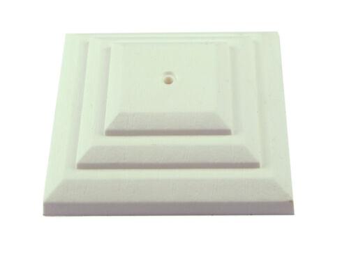 "Mts 10 x blanc 4/"" ou 100mm plastique clôture post cap top crackle uk made GT0049"