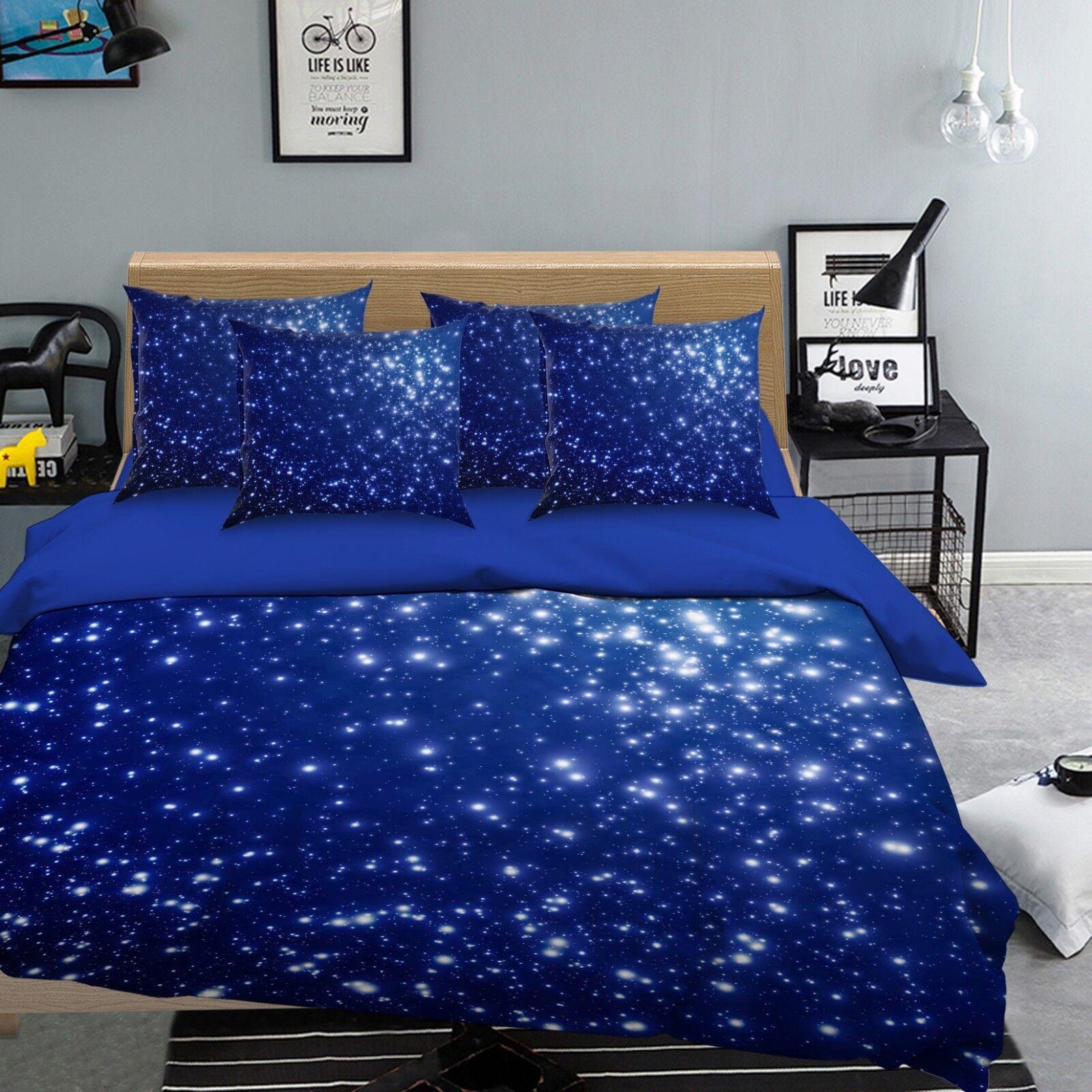 3D Sky Star Nature 7 Bed Pillowcases Quilt Duvet Cover Set Single King UK Summer