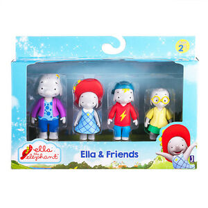 6f71c0eeab7d1 Ella The Elephant and friends 4 pack figure figurine set Belinda ...