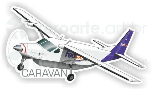 Cessna C208 Caravan FedEx aircraft sticker