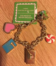 LILLY PULITZER CHARM BRACELET FROG LETTER HEART POUCH CANDY VALENTINES DAY GOLD