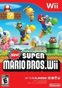 New Super Mario Bros. Wii, Nintendo Wii. Game And Case, No Manual