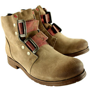 FLY-LONDON-039-SKA-039-DESIGNER-CAMEL-OIL-SUEDE-BIKER-ANKLE-BOOTS-UK-3-EUR-36-RRP-110