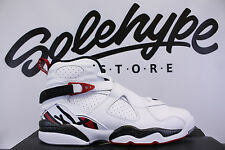 NIKE AIR JORDAN 8 RETRO BG GS VIII ALTERNATE HARE GYM RED 305368 104 SZ 7 Y