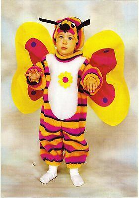 Vestito Costume Farfalla Farfallina Peluche 1 2 3 4 Anni