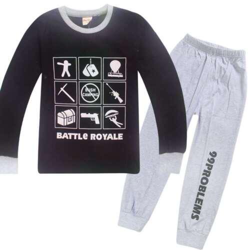 100/% Cotton Christmas Pajamas Children/'s Sleepwear Girls Boys Kids Pyjamas set