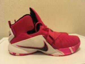 fd65561f8dc05 Nike LeBron James Zoom Soldier 9 Breast Cancer Basketball Shoes Size ...