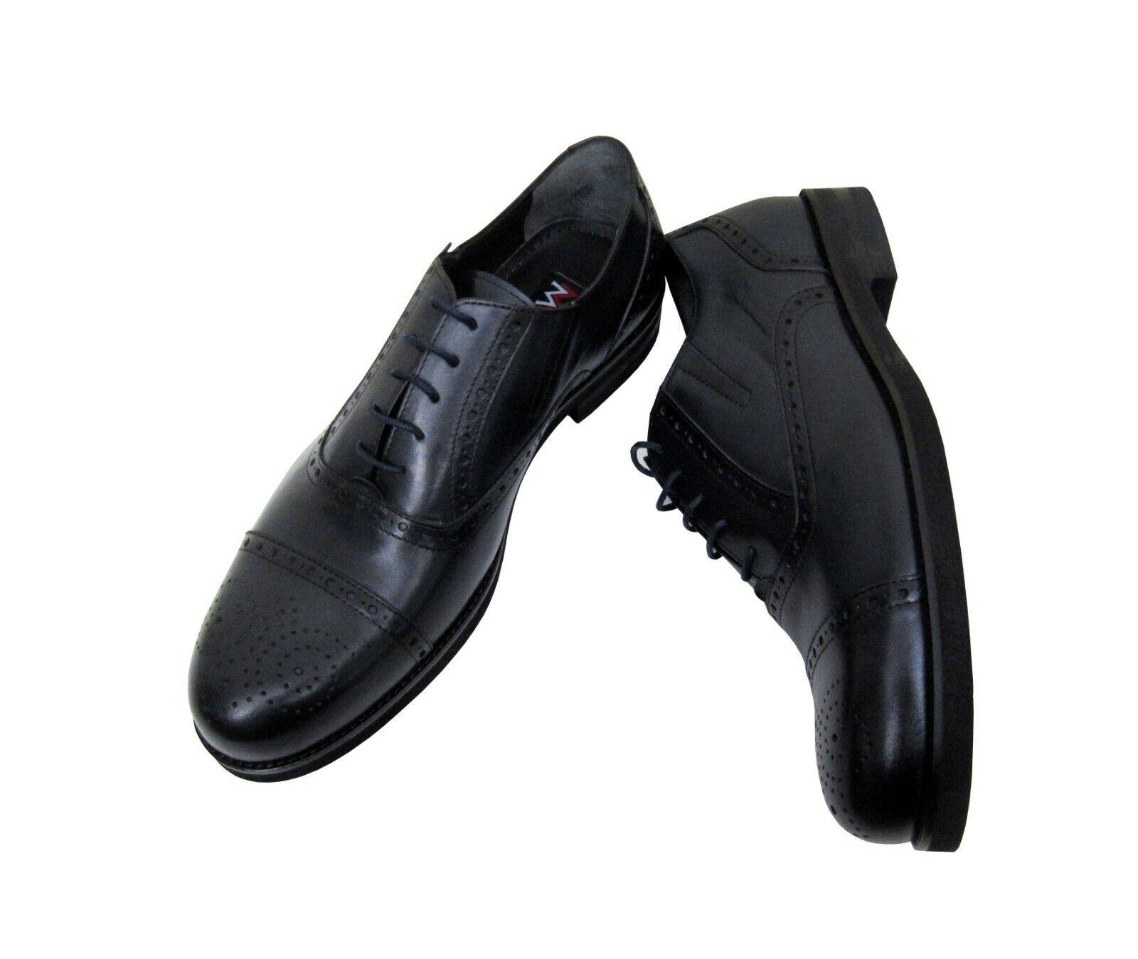 Chaussures Hommes en cuir véritable classique taille 41 Bleu Foncé