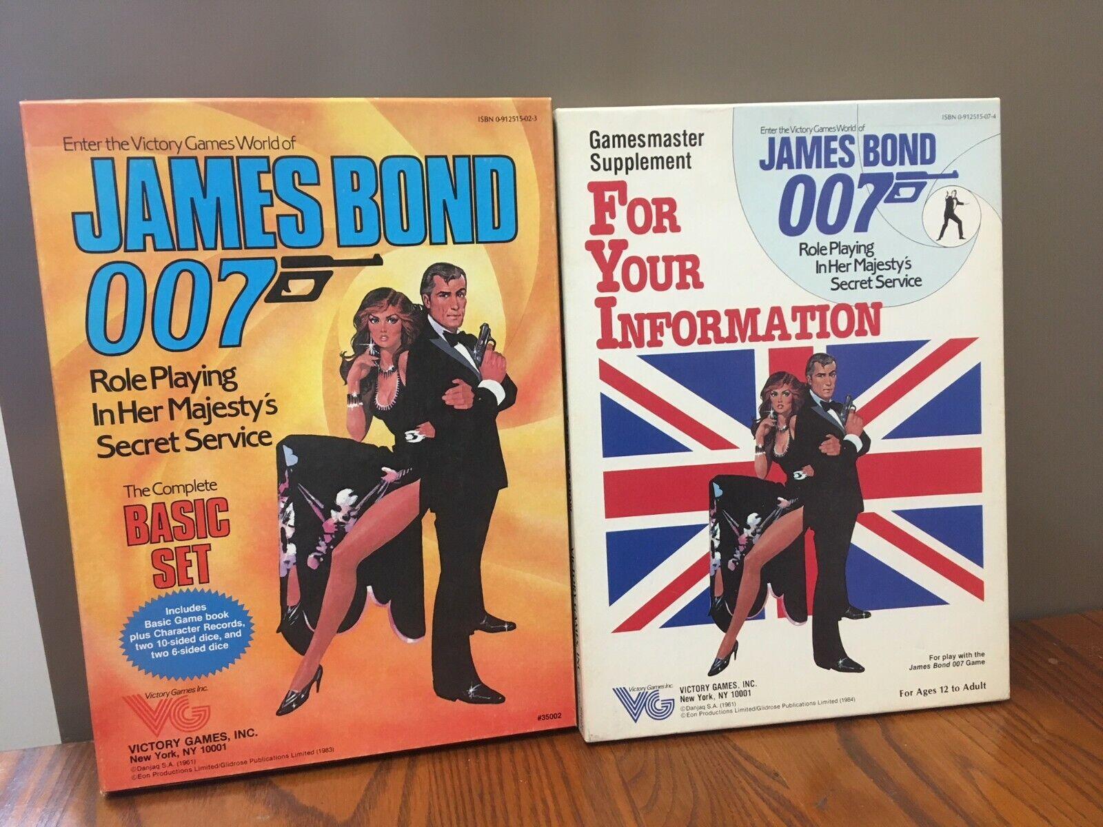 Victory Juegos James Bond-Caja Conjunto Básico + suplemento para tu información