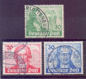 Berlin-1949-Goethe-MiNr-61-63-rund-gestempelt-Michel-180-00-704
