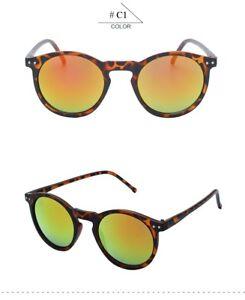 117dfaa959 Image is loading KEHU-New-Fashion-Trend-Round-Sunglasses-Women-Multicolour-