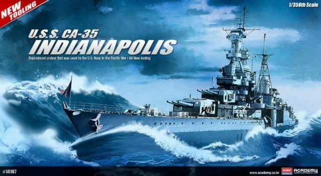 AEMY 1 350 KIT NAVE USS INDIANAPOLIS  LUNGHEZZA 53,2 CM ART 14107