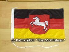Fahnen Flagge Niedersachsen Bootsfahne Tischwimpel - 30 x 45 cm