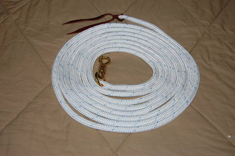22' LONGE LUNGE LINE LEAD ROPE W PARELLI TWIST SNAP FOR NATURAL HORSE TRAINING