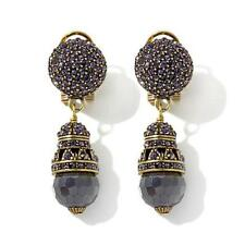 "HEIDI DAUS Couture Crystal Drop Earrings ""Premier Attraction"" Purple NIB (DS)"