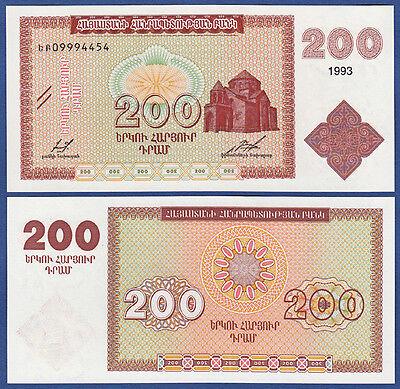 ARMENIEN / ARMENIA 200 Dram 1993  UNC  P. 37