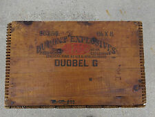 Vtg Large DuPont High Explosives Dovetail Wood Crate Box Dynamite ICC-14 TNT