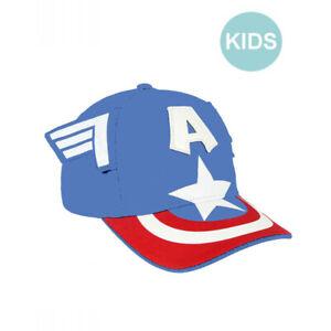 b05870176 Details zu OFFICIAL MARVEL COMICS CAPTAIN AMERICA COSTUME STYLE SNAPBACK  BASEBALL CAP *KIDS