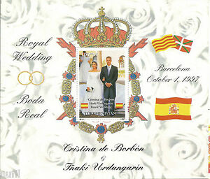 Turkmenistan-Hoja-Bloque-Boda-Real-Cristina-Urdangarin-Royal-Wedding-1997