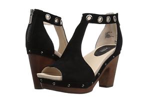 37ca697b32d1 Image is loading Jambu-Sheila-Black-Leather-Wedge-Platform-Sandal-Women-