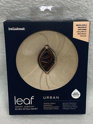 Bellabeat Leaf Urban Health Tracker Smart Jewelry Black Gold! OPEN BOX