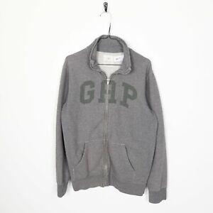 Vintage-GAP-Big-Logo-Zip-Up-Sweatshirt-Grey-Medium-M