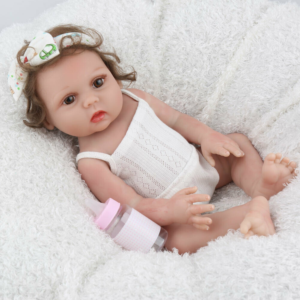 18 Quot Reborn Baby Girl Dolls Silicone Handmade Realistic