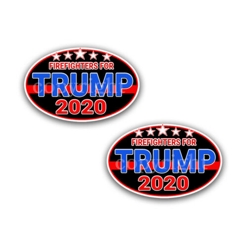"FIREFIGHTERS for TRUMP 2020 Trump Political Bumper Stickers Decals 5/"" 2-pack"